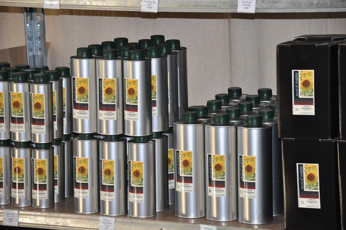 Étagère huiles de tournesol