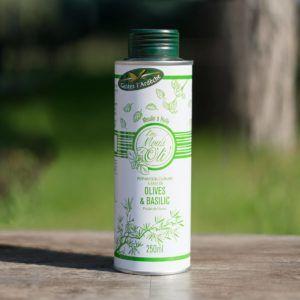 Huile d'olive spéciale - Basilic