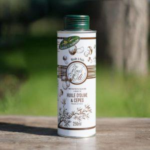Huile d'olive parfumée aux Cèpes