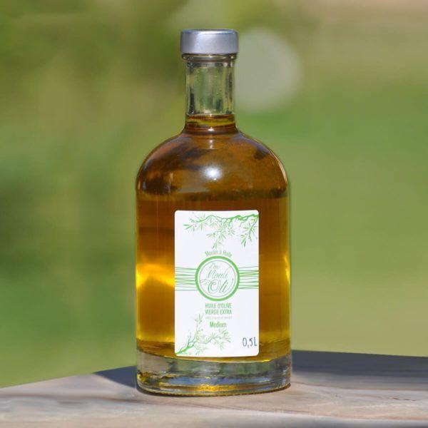 Huile d'olive vierge extra Médium – Bouteille nocturne 500 ml
