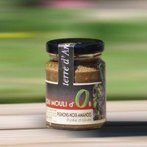 Purée d'olive noire - Pignons noix-amandes