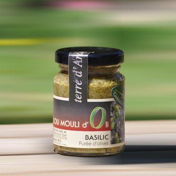 Purée d'olive verte - Basilic